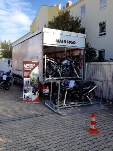 Wie die Bikes geladen werden.