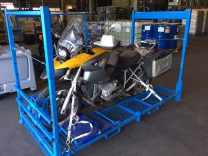 Motorrad gepackt